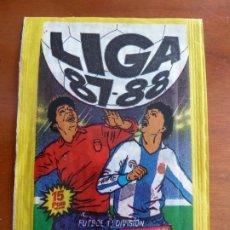 Cromos de Fútbol: LIGA FUTBOL 87 88 EDICIONES ESTE SOBRE DE CROMOS SIN ABRIR. Lote 224189953