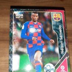 Cartes à collectionner de Football: FICHA MEGACRACKS TEMPORADA 2020/21, EDITORIAL PANINI, JUGADOR NELSON SEMEDO (FC BARCELONA), Nº 59. Lote 224400707