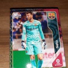 Cartes à collectionner de Football: FICHA MEGACRACKS TEMPORADA 2020/21, EDITORIAL PANINI, JUGADOR NETO (FC BARCELONA), Nº 57. Lote 224400892