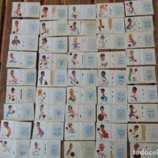 Cromos de Fútbol: 45 CROMOS CARICATURAS DE FUTBOLISTAS FÚTBOL DE CAJAS DE CERILLAS FOSFORERAS AÑOS 50 O 60. Lote 224480647