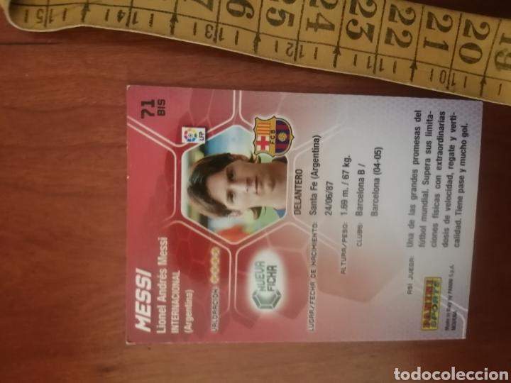 Cromos de Fútbol: LEO MESSI - N°71 BIS MEGACRACKS 2005 - FC BARCELONA #ROOKIE #ROOKIES - Foto 3 - 224688933