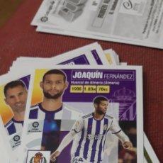 Cartes à collectionner de Football: JOAQUIN 7 VALLADOLID ESTE 20 21 2020 2021 SIN PEGAR. Lote 224894485