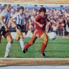 Cromos de Fútbol: CROMO DE FUTBOL MARADONA LIGA ESTE 1980 1981 NUMERO 8,9,10,11 LIGA 80-81. Lote 225065725