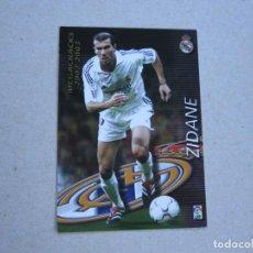 Cromos de Fútbol: PANINI MEGAFICHAS 2002 2003 Nº 376 ZIDANE REAL MADRID MEGACRACKS 02 03. Lote 281988173