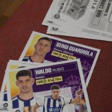Cartes à collectionner de Football: WALDO 18 VALLADOLID ESTE 20 21 2020 2021 SIN PEGAR. Lote 225521400
