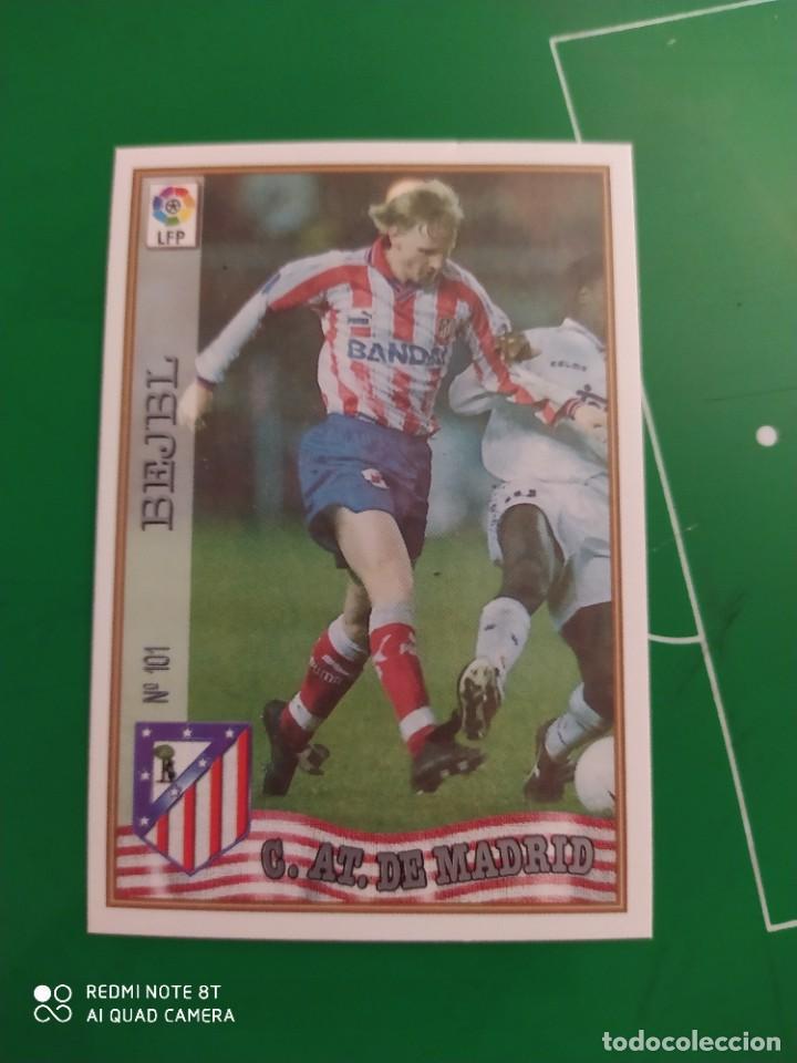 N° 101 BEJEL - AT DE MADRID - MUNDICROMO - FICHAS DE LA LIGA 97 98 (Coleccionismo Deportivo - Álbumes y Cromos de Deportes - Cromos de Fútbol)