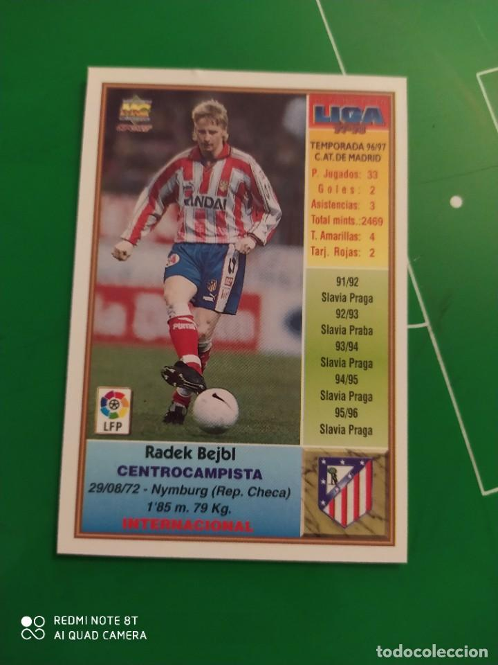 Cromos de Fútbol: N° 101 BEJEL - AT DE MADRID - MUNDICROMO - FICHAS DE LA LIGA 97 98 - Foto 2 - 225934826