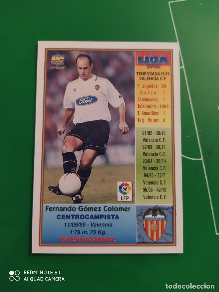 Cromos de Fútbol: N° 204 FERNANDO - VALENCIA CF- MUNDICROMO - FICHAS DE LA LIGA 97 98 - Foto 2 - 225936368
