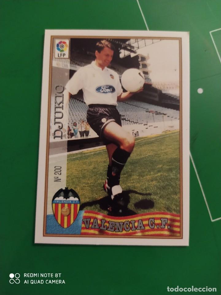 N° 200 DJUKIC - VALENCIA CF- MUNDICROMO - FICHAS DE LA LIGA 97 98 (Coleccionismo Deportivo - Álbumes y Cromos de Deportes - Cromos de Fútbol)