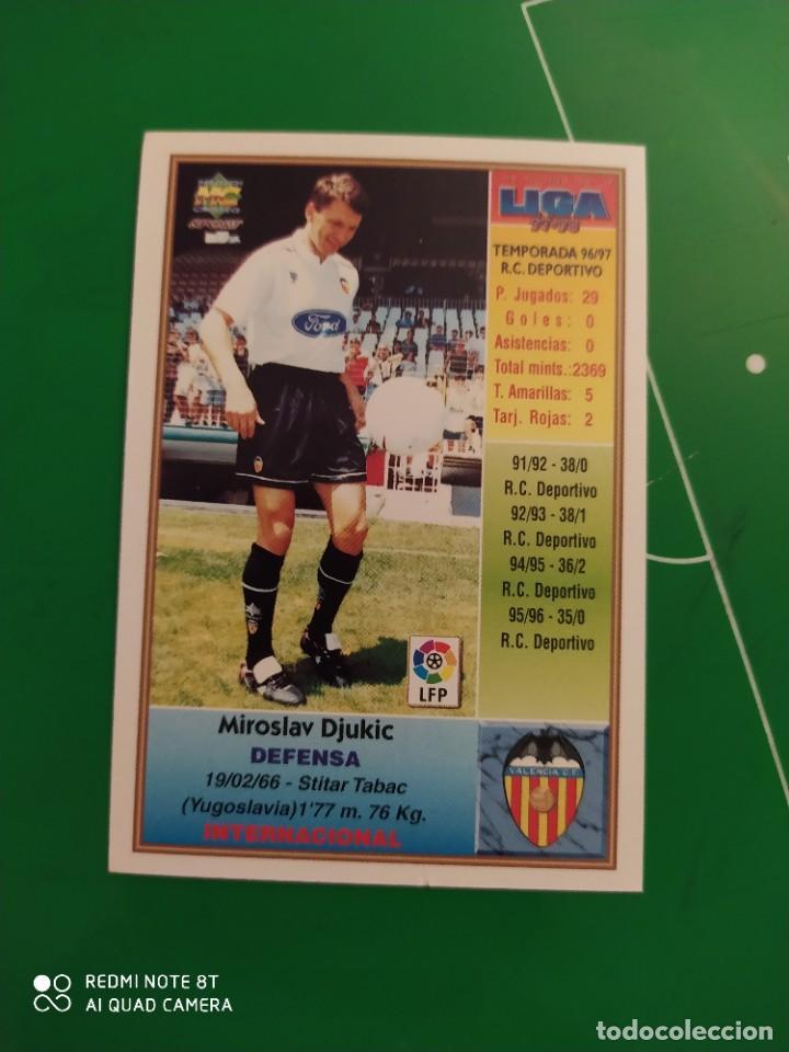 Cromos de Fútbol: N° 200 DJUKIC - VALENCIA CF- MUNDICROMO - FICHAS DE LA LIGA 97 98 - Foto 2 - 225936470