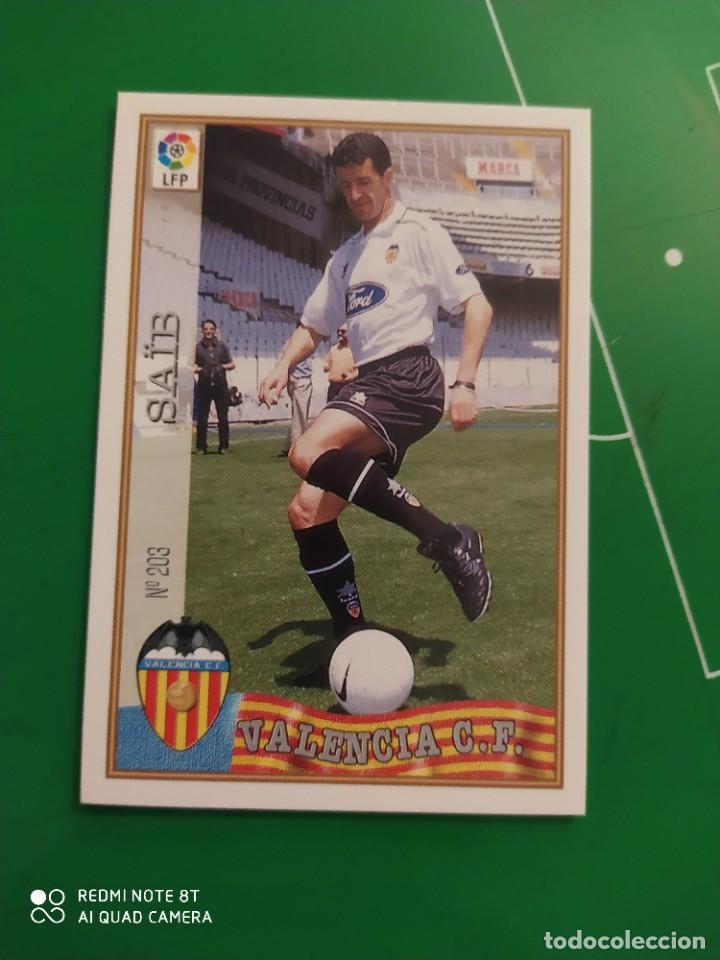 N° 203 SAIB - VALENCIA CF- MUNDICROMO - FICHAS DE LA LIGA 97 98 (Coleccionismo Deportivo - Álbumes y Cromos de Deportes - Cromos de Fútbol)