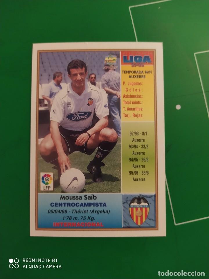 Cromos de Fútbol: N° 203 SAIB - VALENCIA CF- MUNDICROMO - FICHAS DE LA LIGA 97 98 - Foto 2 - 225936635