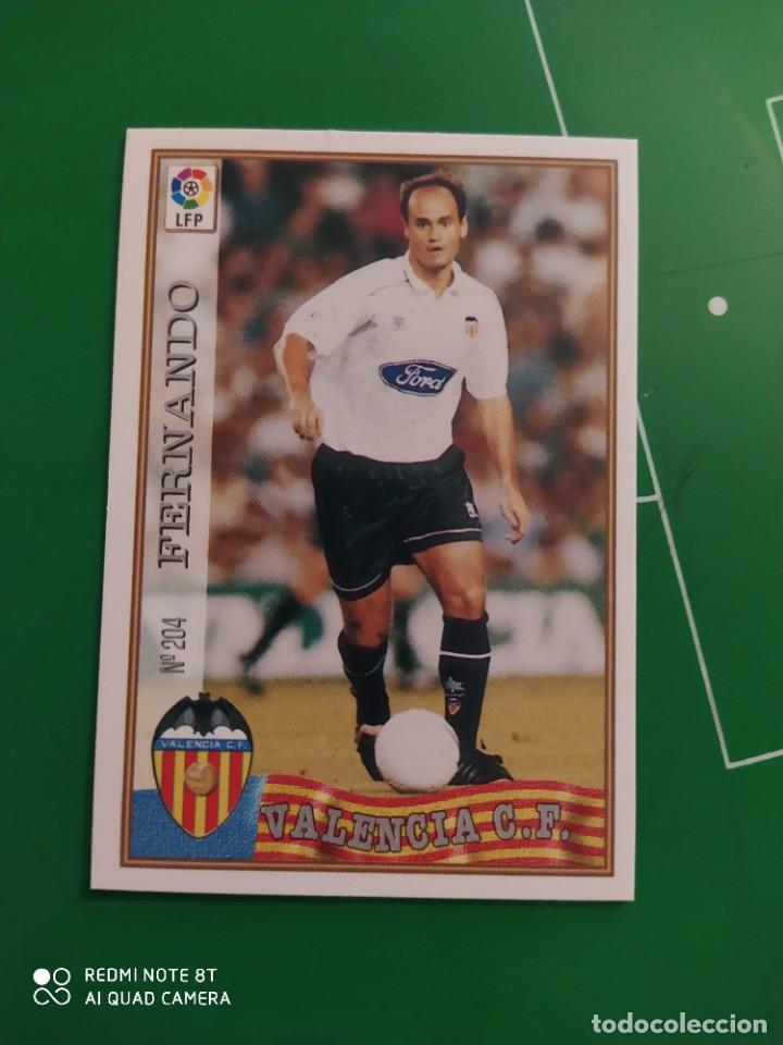 N° 204 FERNANDO - VALENCIA CF- MUNDICROMO - FICHAS DE LA LIGA 97 98 (Coleccionismo Deportivo - Álbumes y Cromos de Deportes - Cromos de Fútbol)