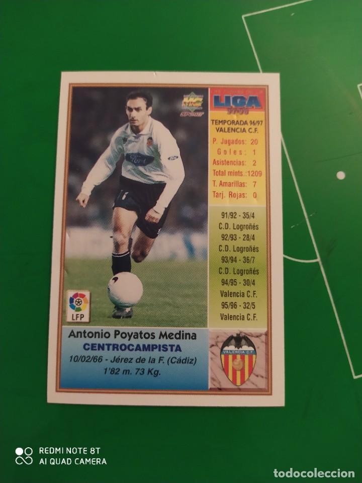 Cromos de Fútbol: N° 201 POYATOS - VALENCIA CF- MUNDICROMO - FICHAS DE LA LIGA 97 98 - Foto 2 - 225936871
