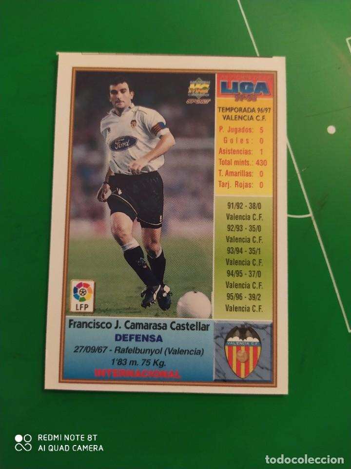 Cromos de Fútbol: N° 199 CAMARASA - VALENCIA CF- MUNDICROMO - FICHAS DE LA LIGA 97 98 - Foto 2 - 225936960