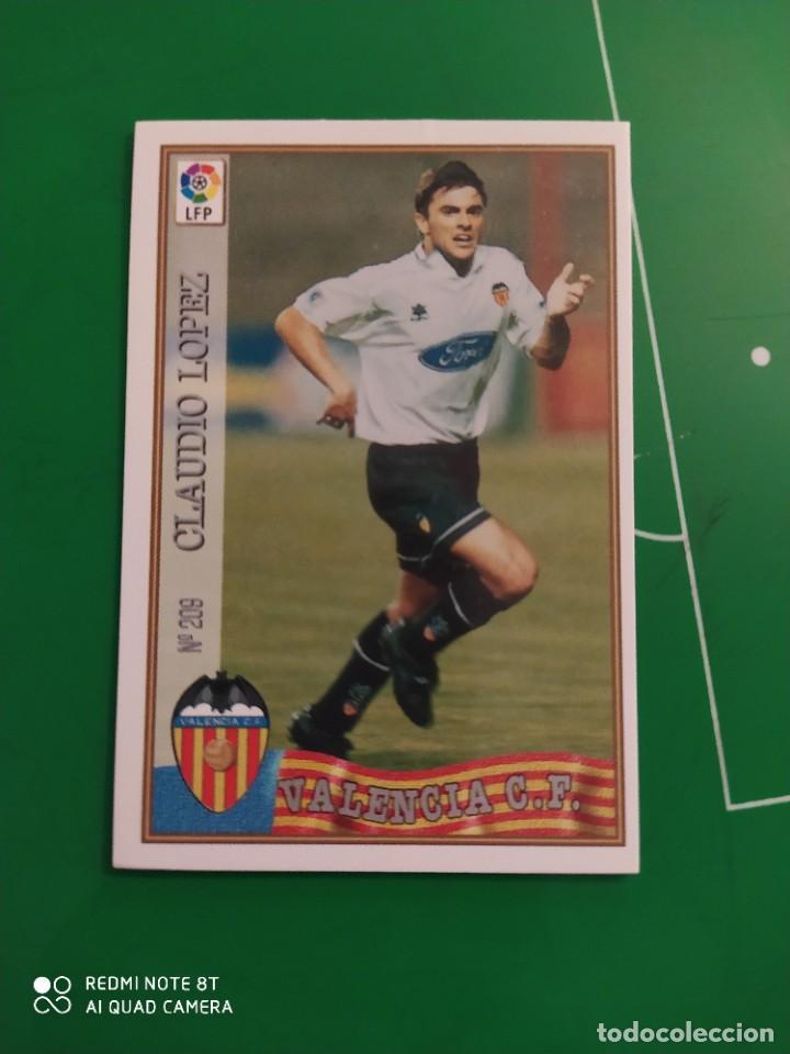 N° 209 CLAUDIO LÓPEZ - VALENCIA CF- MUNDICROMO - FICHAS DE LA LIGA 97 98 (Coleccionismo Deportivo - Álbumes y Cromos de Deportes - Cromos de Fútbol)