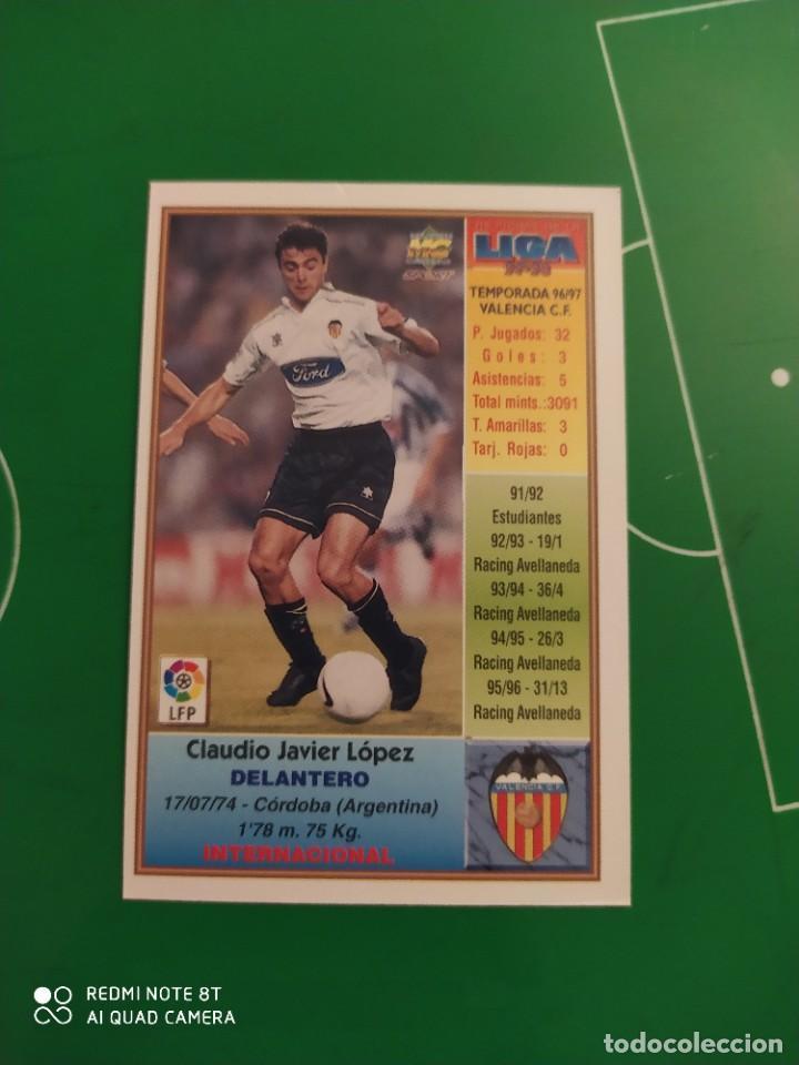 Cromos de Fútbol: N° 209 CLAUDIO LÓPEZ - VALENCIA CF- MUNDICROMO - FICHAS DE LA LIGA 97 98 - Foto 2 - 225937161