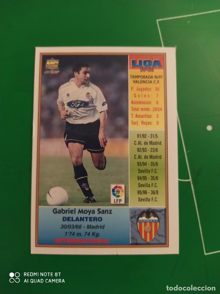 Cromos de Fútbol: N° 207 MOYA - VALENCIA CF- MUNDICROMO - FICHAS DE LA LIGA 97 98 - Foto 2 - 225937310