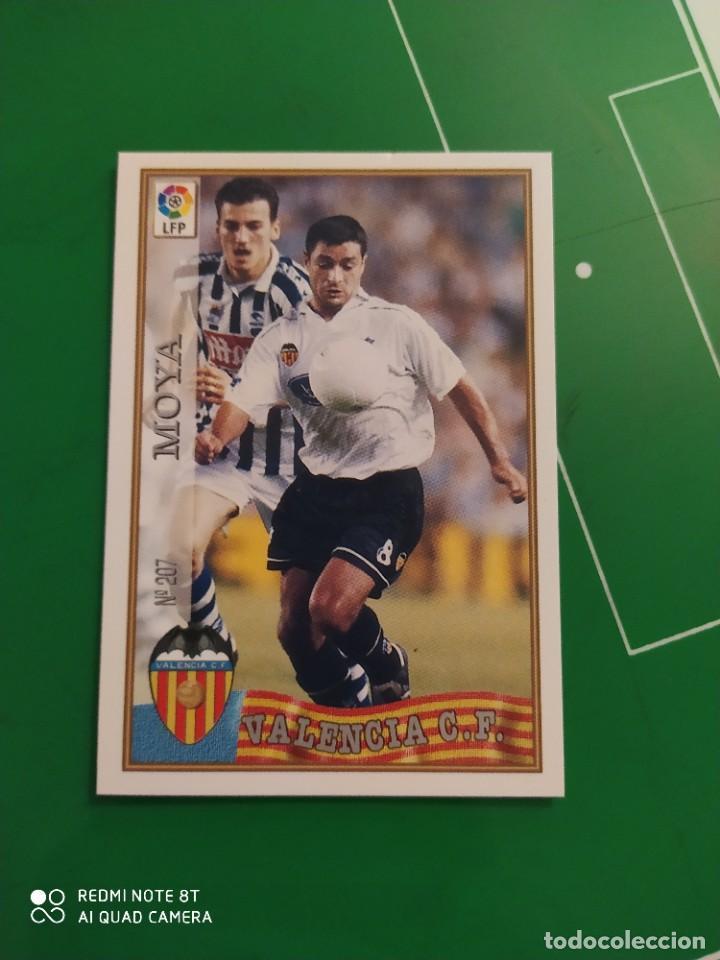 N° 207 MOYA - VALENCIA CF- MUNDICROMO - FICHAS DE LA LIGA 97 98 (Coleccionismo Deportivo - Álbumes y Cromos de Deportes - Cromos de Fútbol)