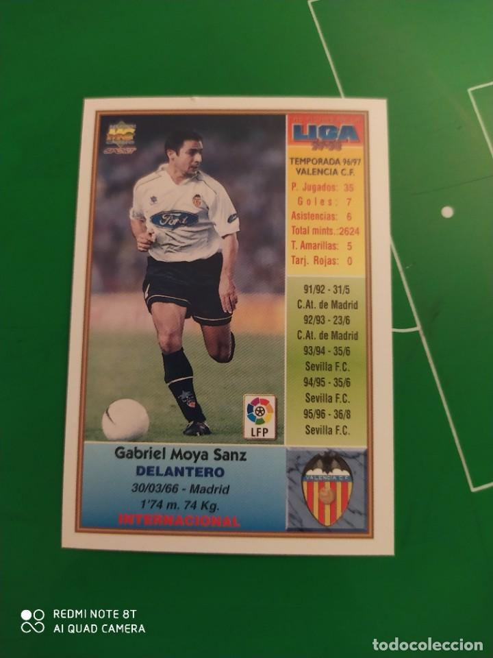Cromos de Fútbol: N° 207 MOYA - VALENCIA CF- MUNDICROMO - FICHAS DE LA LIGA 97 98 - Foto 2 - 225937393