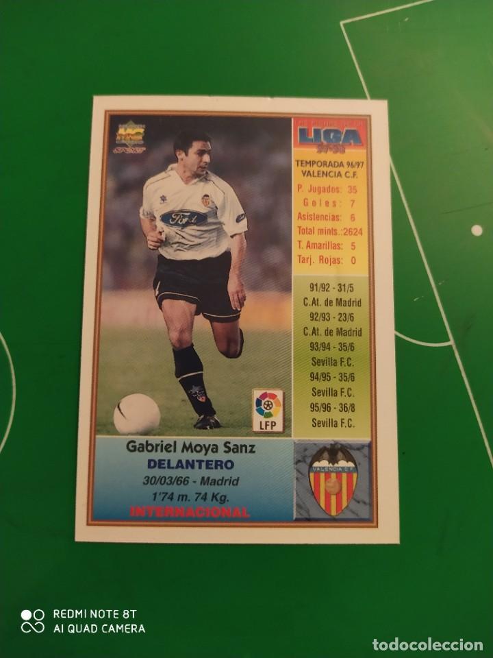 Cromos de Fútbol: N° 207 MOYA - VALENCIA CF- MUNDICROMO - FICHAS DE LA LIGA 97 98 - Foto 2 - 225937495