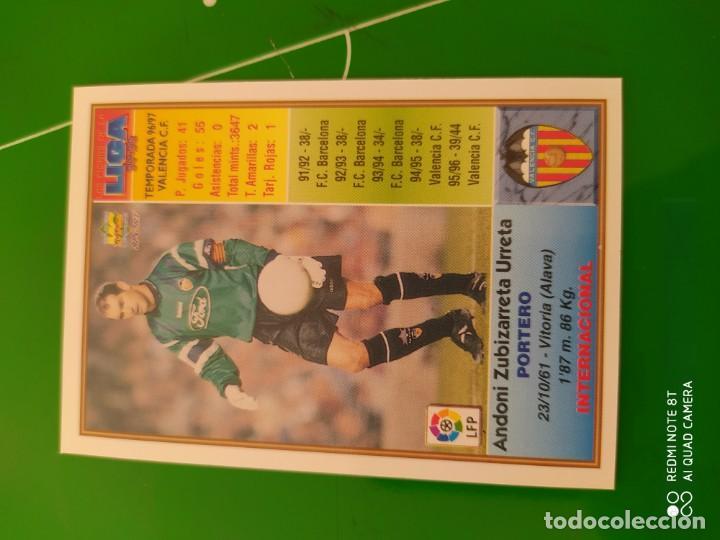 Cromos de Fútbol: N° 194 ZUBIZARRETA - VALENCIA CF- MUNDICROMO - FICHAS DE LA LIGA 97 98 - Foto 2 - 225936175