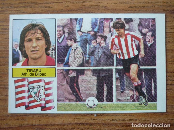 CROMO LIGA ESTE 82 83 TIRAPU (ATHLETIC CLUB BILBAO) - NUNCA PEGADO - 1982 1983 (Coleccionismo Deportivo - Álbumes y Cromos de Deportes - Cromos de Fútbol)