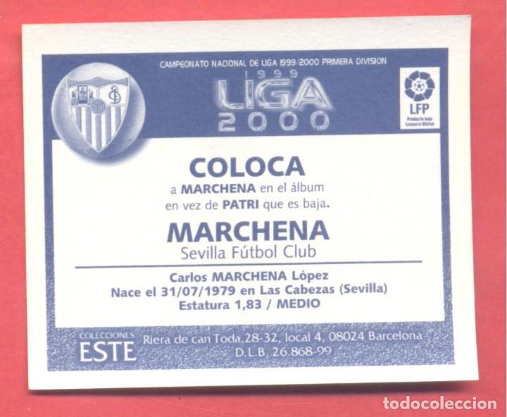 Cromos de Fútbol: liga 1999-2000 este,coloca marchena sevilla, nuevo, nunca pegado, ver fotos - Foto 2 - 226114760
