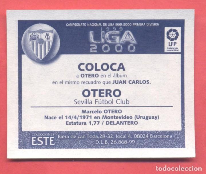 Cromos de Fútbol: liga 1999-2000 este,coloca otero sevilla, nuevo, nunca pegado, ver fotos - Foto 2 - 226115105