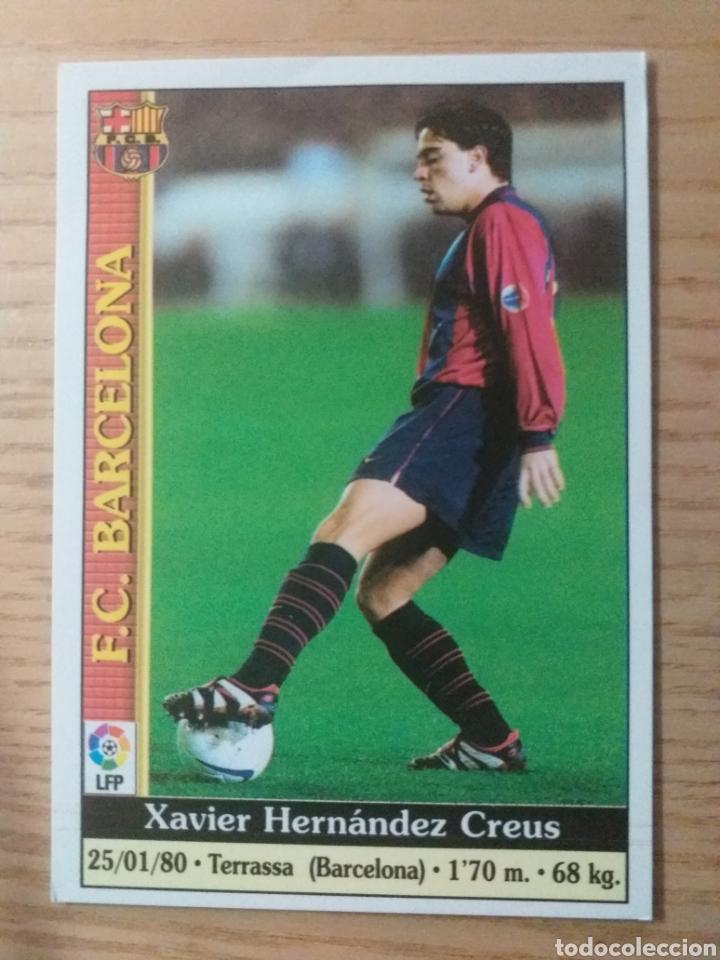 Cromos de Fútbol: M FÚTBOL CROMO Nº 18 XAVI F.C. BARCELONA MUNDICROMO 1999 2000 - Foto 4 - 226115271