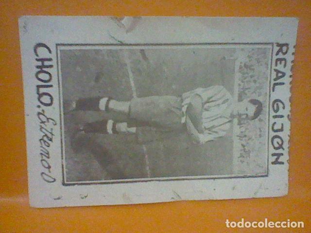 CHOLO GIJON SPORTING C F AÑOS 40 CROMO PAPEL FINO SIN PEGAR NUNCA 4 X 7 APROX CMS RARO (Coleccionismo Deportivo - Álbumes y Cromos de Deportes - Cromos de Fútbol)