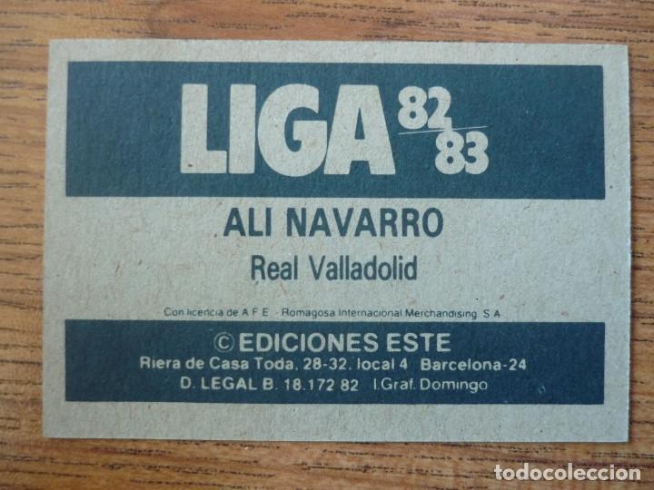 Cromos de Fútbol: CROMO LIGA ESTE 82 83 ALI NAVARRO (VALLADOLID) - NUNCA PEGADO - 1982 1983 - Foto 2 - 226121555