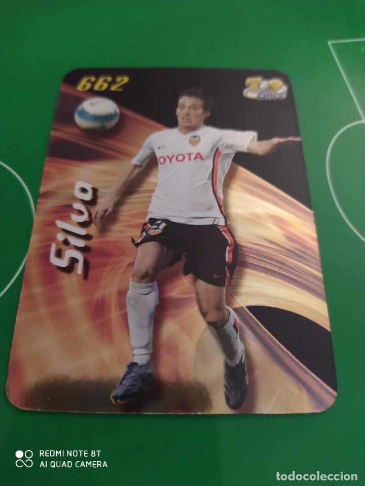 N° 662 SILVA BRILLANTE MUNDICROMO 08 LAS FICHAS DE LA LIGA 2008 (Coleccionismo Deportivo - Álbumes y Cromos de Deportes - Cromos de Fútbol)