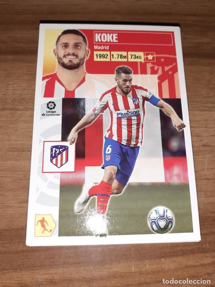 CROMO COLECCIONES ESTE,TEMPORADA 2020/21,EDITORIAL PANINI, JUGADOR KOKE (AT. MADRID) (Coleccionismo Deportivo - Álbumes y Cromos de Deportes - Cromos de Fútbol)