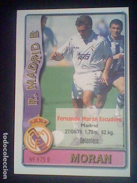 Cromos de Fútbol: 475 MORAN ESCUDO R MADRID B - 2º DIVISIÓN MUNDICROMO 96/97 1996 1997 * - Foto 2 - 226127285