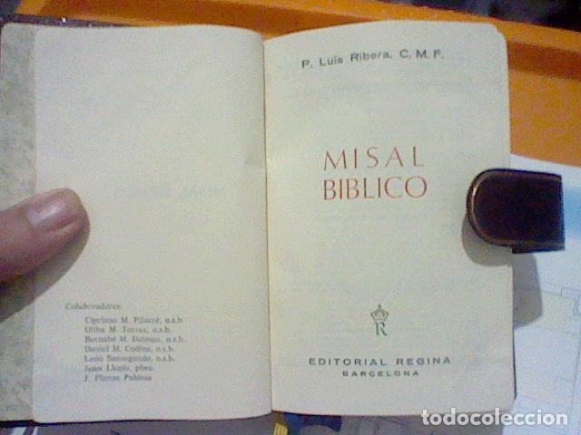 Cromos de Fútbol: MISAL BIBLICO ED REGINA 1966 HOJA PAPEL BIBLIA GALERIAS PRECIADOS PIEL MBE 15 X 10 X 3 CMS 1149 PAG - Foto 6 - 226337415