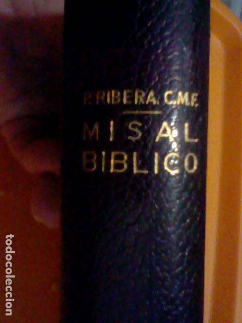 Cromos de Fútbol: MISAL BIBLICO ED REGINA 1966 HOJA PAPEL BIBLIA GALERIAS PRECIADOS PIEL MBE 15 X 10 X 3 CMS 1149 PAG - Foto 2 - 226337415