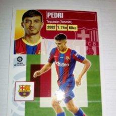 Cromos de Fútbol: PEDRI ROOKIE CARD ÚLTIMO FICHAJE N ° 55 - LIGA ESTE 2020 2021 - BARCELONA. Lote 226386495
