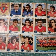 Cromos de Fútbol: 16 CROMOS C. A. OSASUNA PANINI FÚTBOL 88. Lote 226395900