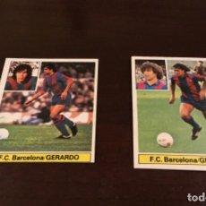 Cromos de Fútbol: DOBLE VERSION FICHAJE 2 GERARDO F.C. BARCELONA CROMOS ALBUM LIGA FUTBOL ESTE 81 82 1981 1982 NUNCA P. Lote 226403950
