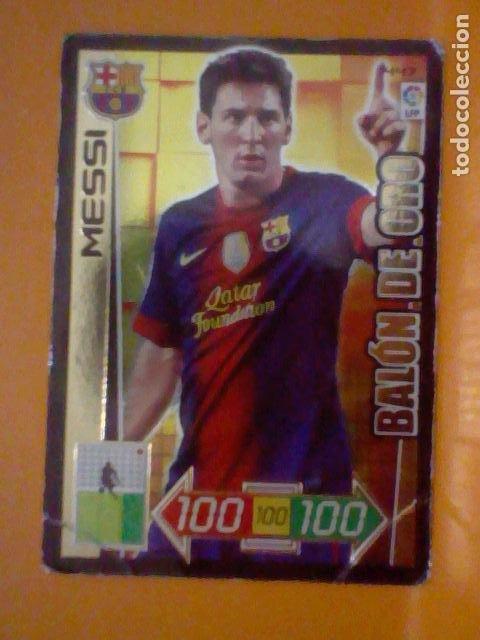 MESSI Nº 447 2012 13 2013 12 SOBADO BARCELONA BALON ORO (Coleccionismo Deportivo - Álbumes y Cromos de Deportes - Cromos de Fútbol)