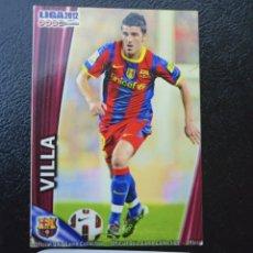 Cromos de Fútbol: DAVID VILLA 021 MUNDICROMO FICHAS QUIZ LIGA 2011 2012 FC BARCELONA. Lote 226774500