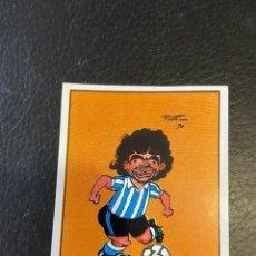 Cromos de Fútbol: MARADONA NUEVO CARICATURA PELUSILLA NUEVO. Lote 227458295