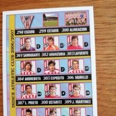 Cromos de Fútbol: MUNDICROMO 2007. ATLETIC DE BILBAO INDICE NÚMERO 321. Lote 288481973