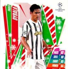 Cromos de Fútbol: HU9 PAULO DYBALA - JUVENTUS - FESTIVE EDITION - TOPPS CHAMPIONS LEAGUE MATCH 2020 2021 20 21. Lote 227887935