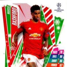 Cromos de Fútbol: HU7 MARCUS RASHFORD - MANCHESTER U. - FESTIVE EDITION - TOPPS CHAMPIONS LEAGUE MATCH 2020 2021 20 21. Lote 227889750