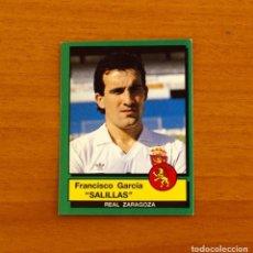 Cromos de Fútbol: ZARAGOZA - Nº 359, SALILLAS - FÚTBOL 90 PANINI 1989-1990, 89-90 - NUNCA PEGADO. Lote 227969745