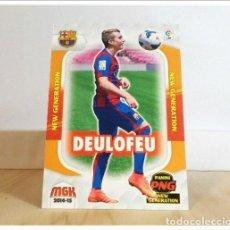 Cromos de Fútbol: MEGACRACKS 2014 2015 14 15 PANINI DEULOFEU Nº 368 NEW GENERATION BARCELONA ALBUM FÚTBOL MGK BARÇA. Lote 228395070