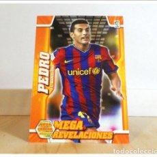 Cromos de Fútbol: MEGACRACKS 2010 2011 10 11 PANINI. PEDRO Nº 403 ERROR REVELACIONES (BARCELONA) ALBUM LIGA FÚTBOL MGK. Lote 228395870