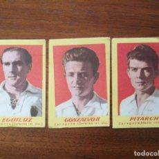 Cromos de Fútbol: REAL ZARAGOZA - 3 CROMOS DIFERENTES SIN PEGAR - CAMPEONES 1951 2ª DIVISIÓN BRUGUERA 1950/51 50/51. Lote 228568605